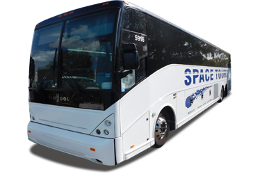 Orlando Florida Bus Charter Motor Coach Group Transportation - Space Tours Bus